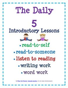 Read to Self (Silent Reading), Smart Board Lesson, all five Daily 5included:read with anotherlisten to readingwriting workword work T...