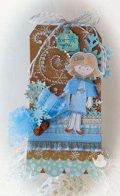 Created by Tina Milbourn using the Abigail & Warm Winter Wishes stamp sets, Abigail Sweet Cuts die and  Rusty Jingle Bells from www.papersweeties.com!
