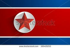 Creative Abstract Flag of North Korea Backgroung - stock vector