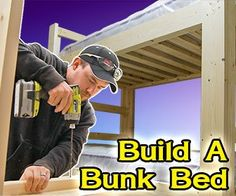 FREE plans! Learn how to build a full-size loft bed!