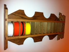 Martial Arts Belt Display Rack. $75.00, via Etsy.