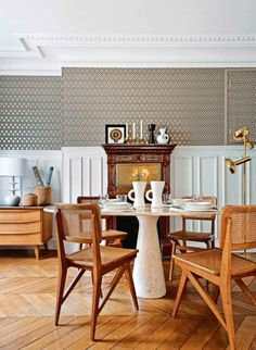 French floors  A favourite in Parisian apartments for decades, herringbone wooden floors are on the rise, with searches up 131 per cent.   Photographed by Nicolas Mathéus