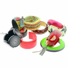 Vintage 80s style #joblot/wholesale 10 assorted #chunky bangles #beaded/plastic,  View more on the LINK: http://www.zeppy.io/product/gb/2/172357202839/