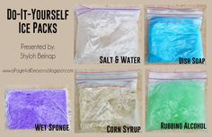 DIY Ice packs are a great way to save money!