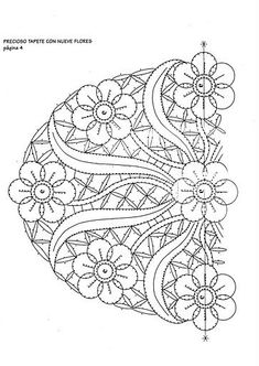 bolillo patrones - maravillada - Álbumes web de Picasa Bobbin Lace Patterns, Macrame Patterns, Embroidery Patterns, Stitch Patterns, Fabric Stiffener, Romanian Lace, Lace Painting, Cutwork Embroidery, Point Lace