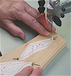 Scroll Sawing for Intarsia: Make sure your blade is cutting square. Check the table/blade to make sure it is square. Next make a test cut, cut a curve then check it with a square. Used Woodworking Tools, Woodworking Patterns, Woodworking Workbench, Intarsia Wood Patterns, Wood Craft Patterns, Table Saw Sled, Intarsia Woodworking, Scroll Saw Patterns, Cross Patterns