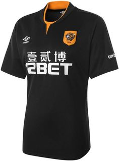 The Hull Home Shirt is orange with black stripes a616d6391