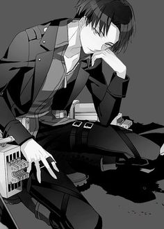 [Levi-Attack on Titan] Once again, these are the types of pictures that make me want to draw my own characters. But then I remember I can't draw, and life gets all depressing...