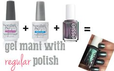 Use your regular polish with a gel system the right way! I can't believe it took me this long to figure it out. I was doing it all wrong.