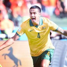 Tim Cahill celebrates his wonder-strike against Holland at the 2014 FIFA World Cup World Cup 2014, Fifa World Cup, Neymar, History Meaning, Soccer Cup, Word Cup, Van Persie, Fourth World, London Clubs