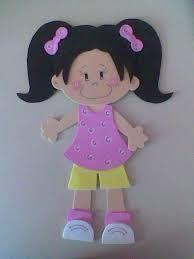 Resultado de imagen para moldes de niñas en foamy