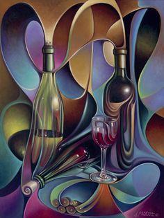 ricardo chavez mendez artwork | Wine Spirits Painting