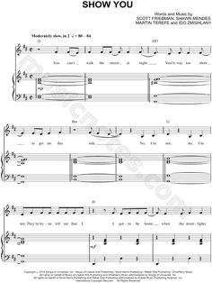Show You sheet music by Shawn Mendes
