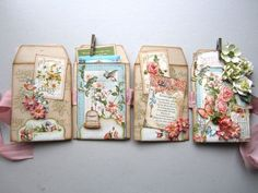 The beautiful pages of Maria's Secret Garden envelope mini! #graphic45 #minialbums