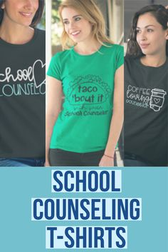 Lots of cute t-shirts for counselors, school counselors, and social work to promote your school counseling program and kindness initiatives!
