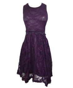 Vibrant Purple Lace Dress - too bad it's sold out! It's under $30 CAD!