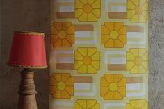 1970's Yellow & Orange 'Albarracin' design Wallpaper. Floral pattern. Made by 'Venilia'.. £10.00, via Etsy.