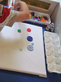 Buttons on the mini-felt boards