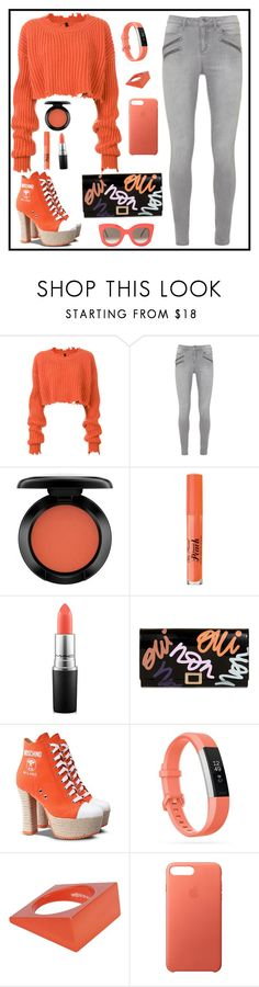 """""""Untitled #2211"""" by ebramos ❤ liked on Polyvore featuring Unravel, John Lewis, Too Faced Cosmetics, MAC Cosmetics, Roger Vivier, Moschino, Fitbit, Maison Margiela, Apple and CÉLINE"""