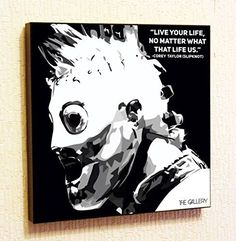 Corey Taylor Slipknot Rock Singer Music Artist Actor Decor Motivational Quotes Wall Decals Pop Art Gifts Portrait Framed Famous Paintings on Acrylic Canvas Poster Prints Artwork Geek Decor Wood ** Read more reviews of the product by visiting the link on the image.