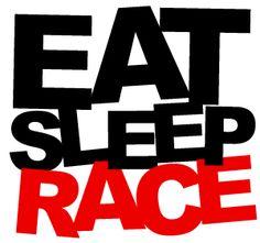 Eat Sleep Race Black BMF T-Shirt - Small