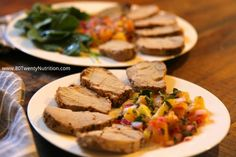 Roasted Pork Tenderloin with Pineapple Salsa - media dietitian Christy Brissette 80 Twenty Nutrition