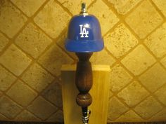 MLB Los Angeles Dodgers Kegerator Beer Tap Handle Helmet Bar Sports Brew Series New Wood