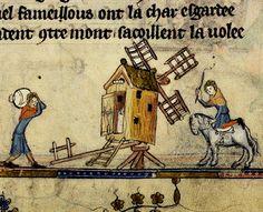Windmill. Flemish 1338-44 detail.