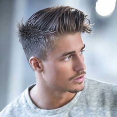 Brushed Up Hair + Tapered Sides