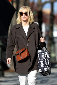 Cate Blanchett wearing our coat Oaklahoma in espresso while out and about in New York City.