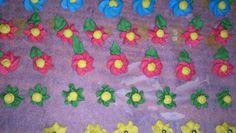 Flores de azúcar glas
