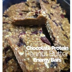 SKINNY chocolate protein peanut butter bars