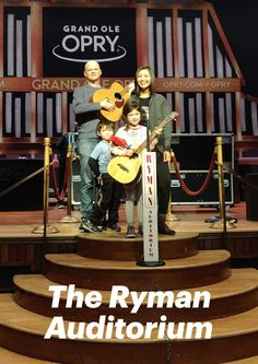 Put the Ryman Auditorium on your Nashville to-do list. Just a few blocks off of Broadway and with a Old Town Trolley stop out front, the Ryman couldn't be an easier place to see. Nashville Broadway, Grand Ole Opry, Auditorium, Travel With Kids, Old Town, Spin, Places To See, Tennessee, Globe