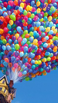 Colorful Balloons House Up Movie Android Wallpaper free download
