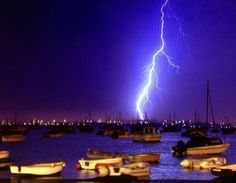 Images of lightning storms over the UK