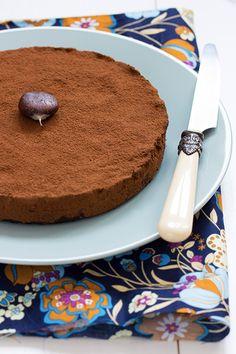 Fondant chocolat châtaigne sans cuisson ©La Table Verte http://www.latableverte.fr