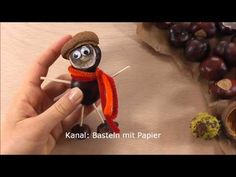 things to do with conkers - horse chestnuts   Basteln mit Kastanien - 2 Bastelideen für den Herbst Origami Rose, Conkers, Puppy Face, Friends Forever, Poodle, Kids, Crafts, Autumn, Fall