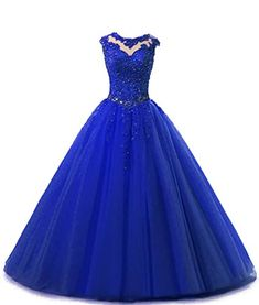 672e9ef69d33 HEIMO Lace Appliques Ball Gown Evening Prom Dress Beading Sequined Quinceanera  Dresses Long 2018 H152 10 Royal Blue