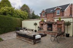 Property For Sale in Newtownards Belfast, White Wash Fireplace, Small Garden Design, Property For Sale, Patio, Outdoor Decor, Whitewash, House Ideas, Gardens