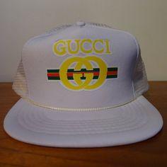 7db4ee73897 Deadstock GUCCI Bootleg Snapback Hat White by JointCustodyDC