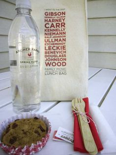 DIY Lunch Bag Favors - cute idea for family reunions/special get-togethers