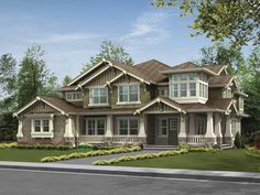 Craftsman House Plan with 4385 Square Feet and 5 Bedrooms(s) from Dream Home Source | House Plan Code DHSW64054