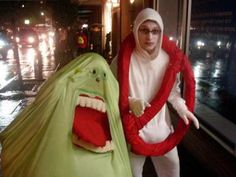 Ghostbusters Logo and Slimer Costumes | Costume Pop