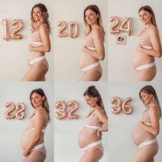 We love a good pregnancy progression shot! Pregnancy Progress Pictures, Cute Pregnancy Pictures, Baby Bump Pictures, Pregnancy Bump, Maternity Pictures, Weekly Pregnancy Photos, Pregnancy Outfits, Pregnancy Style, Pregnancy Fashion