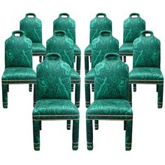 """Set of 10 """"Hutton"""" Malachite Chair 