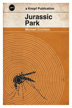 "Jurassic Park Book Poster - 11X17"". $20.00, via Etsy."