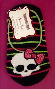 Monster High Girls Slipper Socks New Fits Girls Size 7 1 2 Through 3 1 2 US   eBay