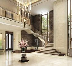 HBAResidential 顶级豪宅系列 Mansion interior Luxury staircase House entrance