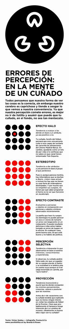 Errores de percepción muy comunes Fuente: www.zerolistillos.es #infografia #infographic #psychology