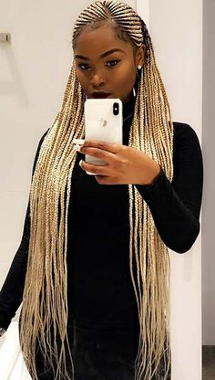 45 Best Ways to Rock Feed In Braids this Season – StayGlam - Page 4 # Braids with beads ponytail # Braids with beads ponytail # Braids with beads ponytail # feed in Braids with yarn # long Braids with beads Small Feed In Braids, Feed In Braids Ponytail, Box Braids Hairstyles, Girl Hairstyles, African Hairstyles, Protective Hairstyles, Teenage Hairstyles, Black Box Braids, Black Girl Braids